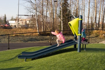 Kids love the roller slide.
